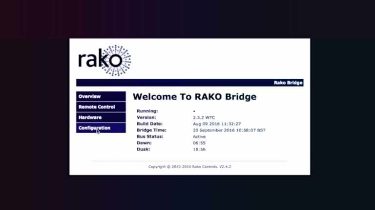 Connecting to the Rako bridge